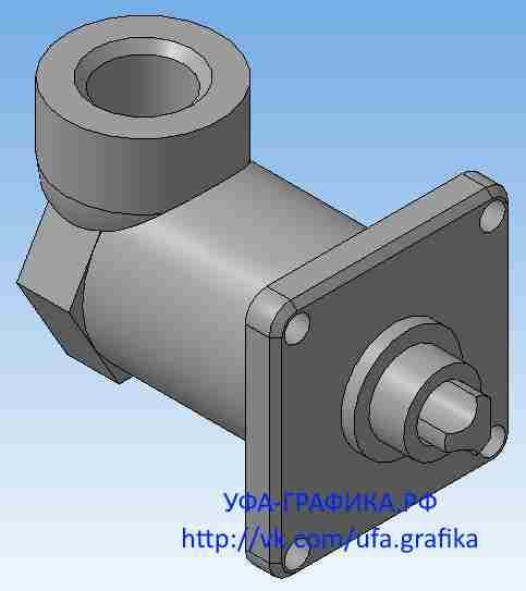 02.000 Пневмоаппарат клапанный, чертежи, деталирование, 3Д модели, начертательная геометрия, инженерная графика